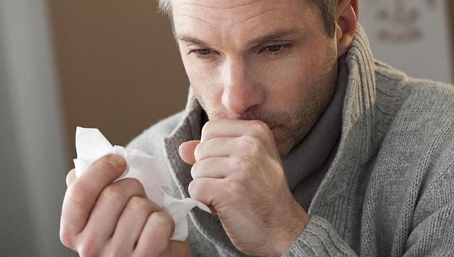 Отделение мокроты при кашле