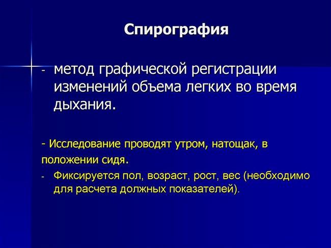 Определение спирографии