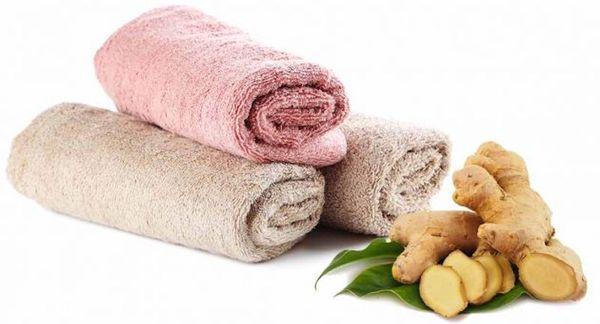 Полотенце и имбирь для компресса