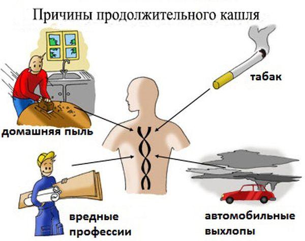 Причины продолжительного кашля