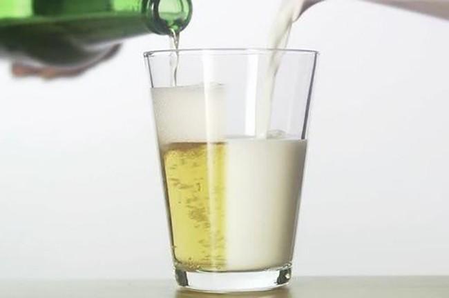 Пиво с молоком от кашля