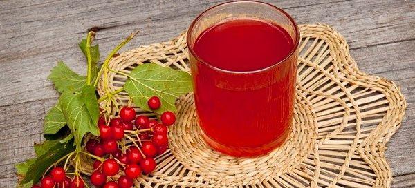 Натуральный сок из красной калины при кашле