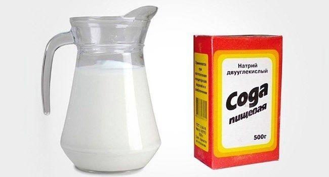 Молоко и пищевая сода при кашле