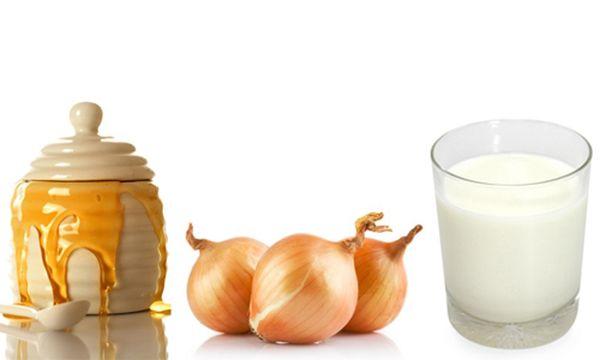 Мёд лук и молоко при сильном кашле