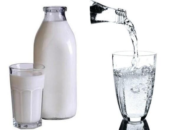Молоко с минеральной водой при кашле